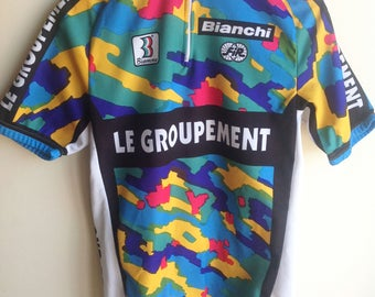 Jersey cyclist vintage Bianchi group