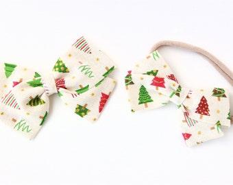 Christmas Tree Hair Bow - Hair Bows for Christmas - Hair Bows for Girls