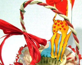 Vintage Giraffee Nut Cup, Candy Cup, Valentine's Day, Embellished vintage,
