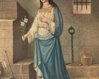 SAINT PHILOMENA 8x10 Catholic Picture Print
