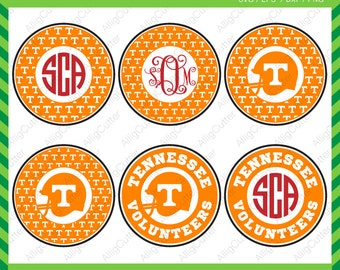 Tennessee Volunteers Monogram Frames SVG DXF PNG eps college football Cut Files for Cricut Design, Silhouette studio, Sure Cuts A Lot