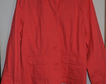 Gently Used Jamaica Bay Light Weight Coral Color Jacket in Size XL for Women