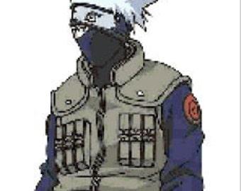 Kakashi - Naruto character cross stitch pattern
