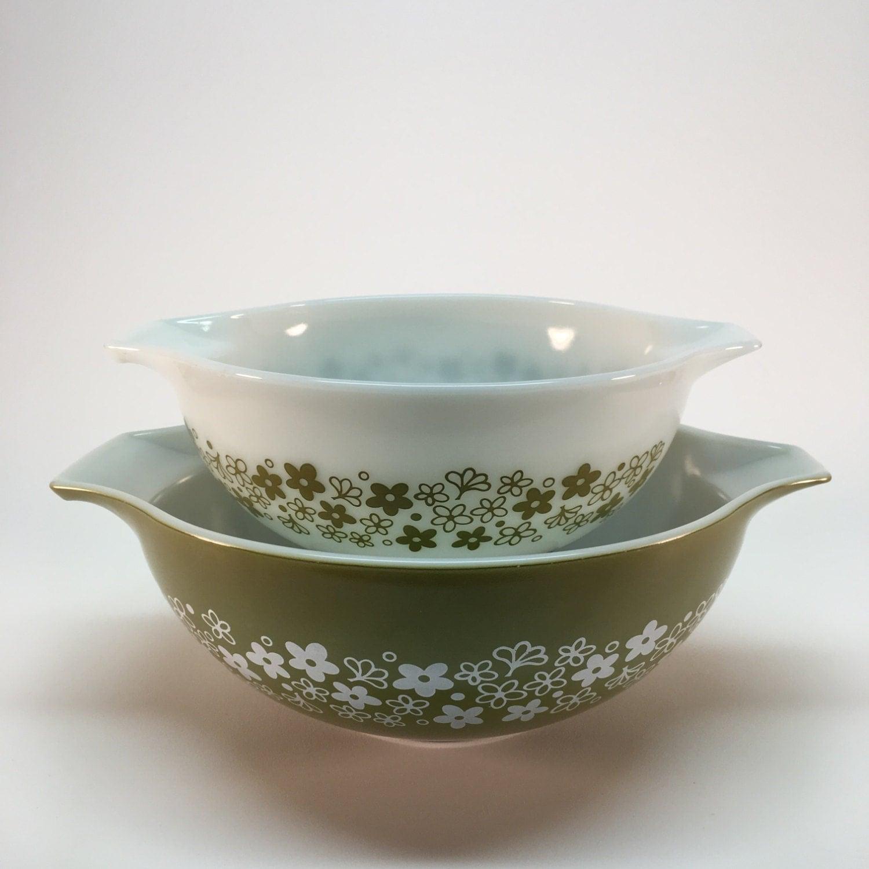 Art Deco Kitchen Vintage Pyrex Mixing Bowls