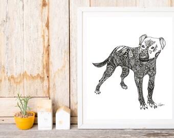 Large Dog Print