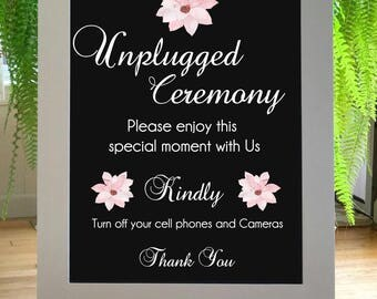Unplugged Wedding Sign, Unplugged Ceremony Sign, Rustic Wedding Sign, Welcome Wedding Sign, No Cell Phone, No Camera, Wood Wedding Sign