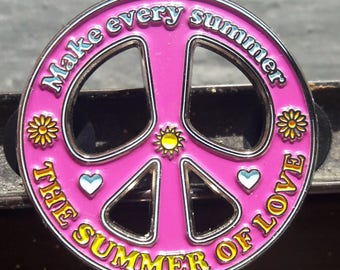 Summer of Love Peace Pin Summer of Love Pin Peace Hat Pin 1967 Pin 2017 Pin Summer Pin FREE SHIPPING!!!