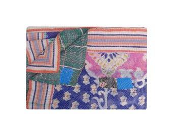 Vintage Best Quality Quilt Twin Size Kantha Stitched Blanket