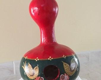 Handpainted  Gourd Birdhouse