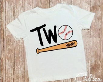 Second Birthday Baseball Shirt,Personalized Second Birthday Shirt,Baseball Toddler Shirt,Baseball Birthday Shirt,Two,Second Birthday Shirt