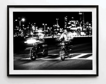 Harley Davidson, Motorcycle Poster, Motorcycle Print, Motorcycle Art, Motorcycle Decor, Motorcycle Wall Art, Motion Print, Motion Poster