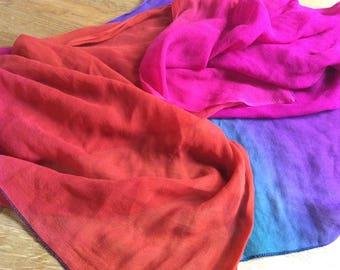 Beautiful shawl in red and purple/silk/swedish