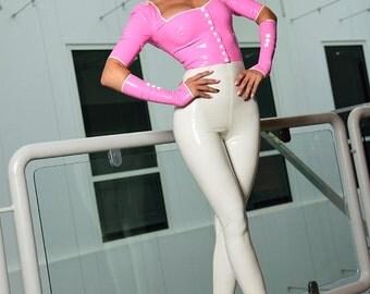 CL design high waist leggings Fiftie's style tight & sexy rubber Rockabilly