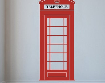 London Phone Box Wall Decal