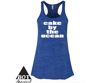Cake By The Ocean Women's Flowy Racerback