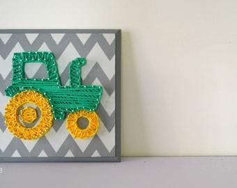Framework,string art,3d wall art, baby shower, Panache, tractor,