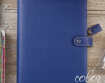A5 Binder,Navy Planner Binder with Undated Planner Calendar Kit, Webster's Pages Color Crush Notebook Planner,Tab Divider Pages, Planner Kit