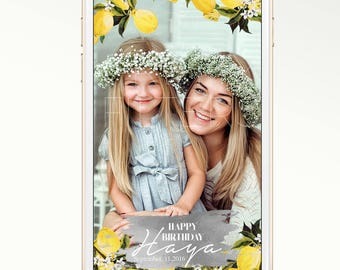 DIY Snapchat GeoFilter for Birthday Party or Wedding | Enter Your Details | We Customize for You | Ready in 24 hours | Citrus