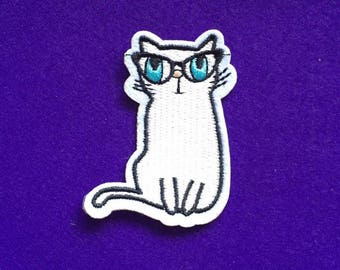 Cat patch / quirky cat patch / iron on patch