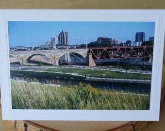 Photo Greeting Card | Handmade Card | Blank Card | Photo Note Card | Photography Card | Segway | Minneapolis | St Anthony Main | Bridge