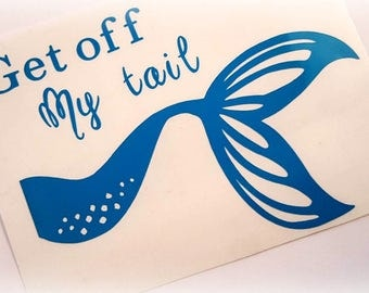 Mermaid tail sticker etsy Getting stickers off glass