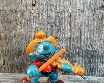 Violin Smurf, Hillbilly Smurf, Fiddler Smurf, Smurf Family, Smurf Lover Gift