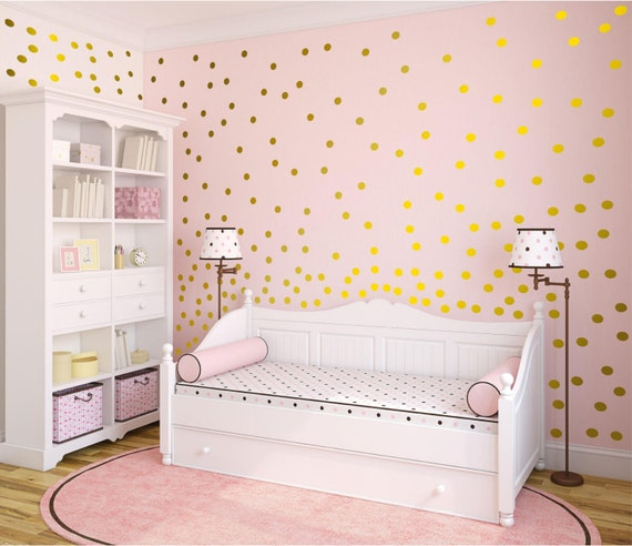 "2 Inch Polka Dot Wall Decals- 2"" Inches Polka Dots Wall Decor -2 Inch Polka Vinyl Wall Stickers"
