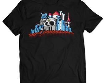 Mega Man 2 Dr. Wily Castle T-shirt