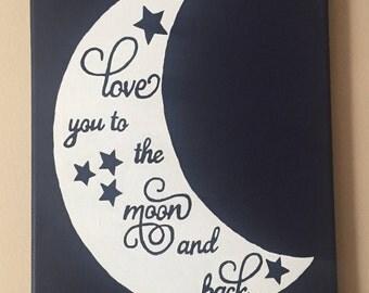 """Nursery canvas """"Love you"""""""