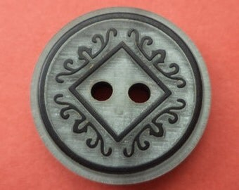 10 grey buttons 18mm (2336) button