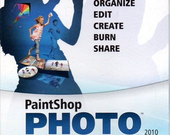 Corel Paintshop Photo Express 2010 Photo Editing Software - CD-ROM, Key, Manual in original Box. Windows Vista, XP, or Windows 7 Required.