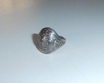 Soviet era vintage Silver ring hallmarked 875 silver Antique Promise Princess style Ethnic folk art handmade Romantic jewelries Latvian ring