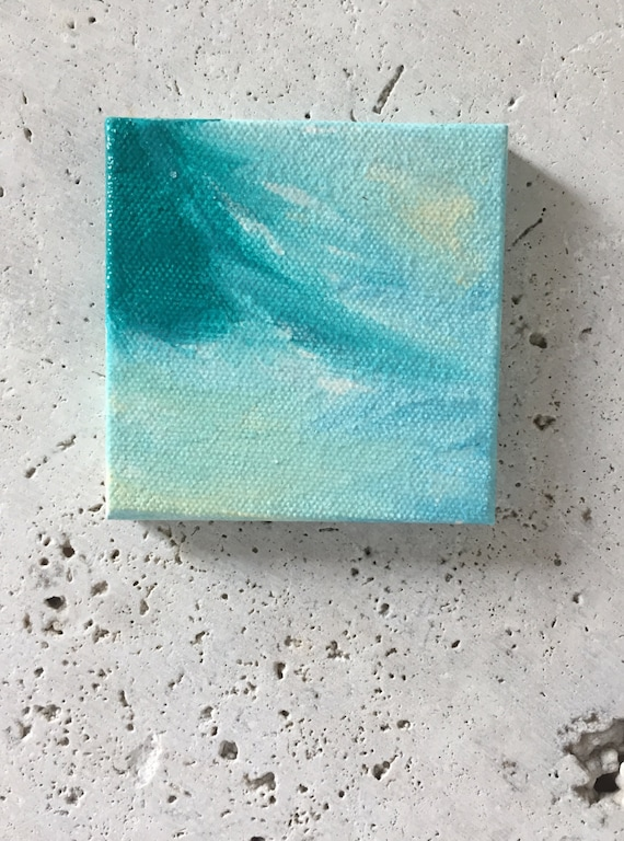 Mini abstract painting, acrylic, desk painting, kids room decor