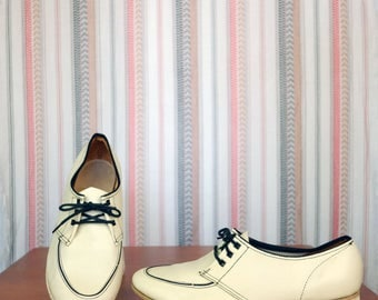 Black & White Leather Oxford Size 7