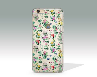 iPhone 7 Case Floral Clear iPhone 7 Plus Case iPhone 7 Case Clear iPhone 6 Case iPhone 6s Case Silicone iPhone Case Christmas Gift //181