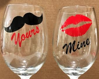 Mine & Yours Wine Glass Set