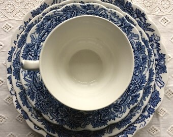 Vintage Booths Vine and Wheat China Teacup Trio c.1920s
