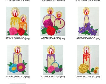Applique-Ornament-Candles ( 10 Machine Embroidery Designs from ATW )