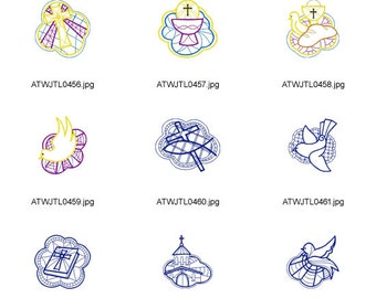 Christian-Designs( 20 Machine Embroidery Designs from ATW )