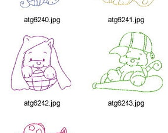 Little-Kitties-I ( 5 Machine Embroidery Designs from ATW ) XYZ17C