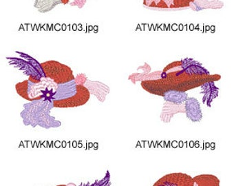 Red-Hat ( 10 Machine Embroidery Designs from ATW ) XYZ17E