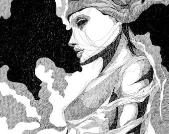 Young Woman - Original Drawing