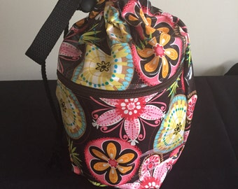 Project Bag - Laminated - Carnival Bloom