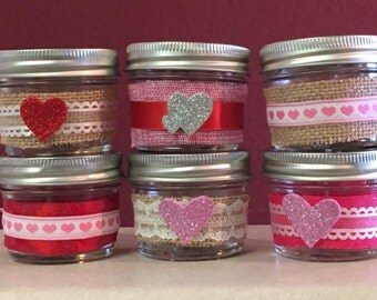 VALENTINE'S DAY CANDLE- 4 Ounces - Holiday Candle - Soy Candle - Homemade Candle - Pick Your Scent & Design - Natural Candle