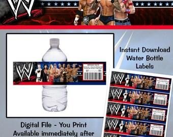 Instant Download! WWE Cena Water Bottle Labels
