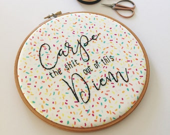 Inspirational Quote, Motivational Quote, Hand Embroidery Quote, Modern Home Decor, Wall Art Quotes, Embroidery Hoop Art, Funny Office Quote