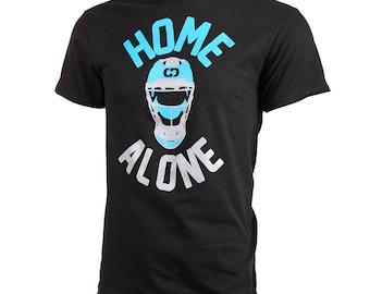 Home Alone Short Sleeve Softball T-Shirt, Catcher Shirt, Softball Shirts, Softball Gift - Free Shipping!