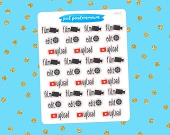 Film Edit Upload Planner Stickers (W003)