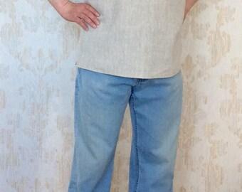 Men's linen shirt/linen clothes/handmade men's shirt/Linen shirt /summer shirt/short sleeve/linen shirt/Summer linen shirt/Natural linen