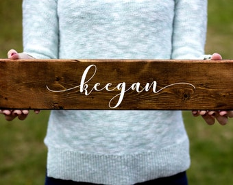 Nursery Name Sign, First Name Sign, Wooden Sign, Custom Wooden Sign, Nursery Decor, Rustic Nursery Sign, Baby Shower Gift, Wood Sign